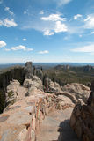 Stone staircase leading down from Harney Peak Fire Lookout Tower in Custer State Park Stock Photos