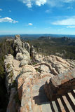 Stone staircase leading down from Harney Peak Fire Lookout Tower in Custer State Park Stock Photography