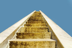 Stone staircase leading in to the blue sky in Jaipur, India. Stone staircase leading in to the blue sky Stock Images