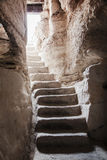Stone staircase leads up from Stock Images