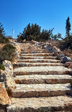 Stone staircase and lonely column on the island of Kos Stock Image
