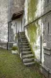 Stone Staircase On Green Wall Royalty Free Stock Image