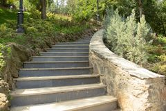 Stone staircase in the park Royalty Free Stock Photography