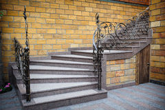 Stone staircase placed in modern living room Royalty Free Stock Images