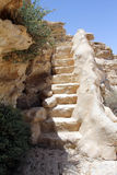 A stone staircase in the rock Stock Photography