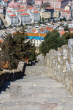 Stone staircase.  Saint Georges Castle. Stock Photos