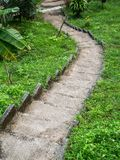 Stone staircase surrounded by greenery royalty free stock photography