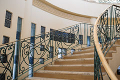 Stone staircase on territory of hotel Stock Photo