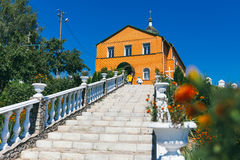 Stone staircase to the church Stock Image