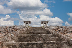 Stone staircase to the sky Royalty Free Stock Images