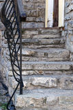 Stone staircase wall Royalty Free Stock Photography