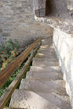 Stone staircase from walled town Royalty Free Stock Photography
