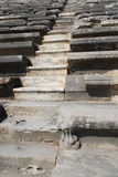 Stone stairs in the amphitheater. Ancient stone stairs in the Turkish amphitheater Stock Images