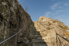 Stone stairs. With beautiful blue cloudy sky Stock Images
