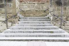 Stone stairs in the city Royalty Free Stock Photo