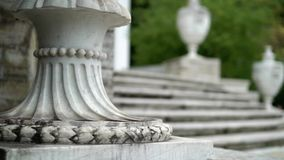 Stone stairs and columns at the palace stock video footage