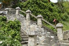 Stone stairs . Stock Photo