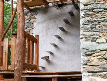 Stone stairs for entry into the attic. Stock Photography
