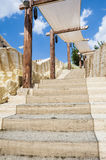 Stone stairs in exotic place Royalty Free Stock Photos