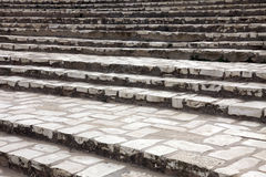 Stone stairs in front of the amphitheater in El-Jem Royalty Free Stock Photos