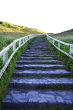 Stone Stairs Go Up to the Top of Mountain in A Sunny Day. The Stone Stairs Go Up to the Top of Mountain in A Sunny Day Stock Photos