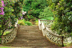 Stone stairs in Hever Castle gardens England Stock Photos