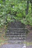 Stone stairs on the island Trakai,Lithuania Stock Image