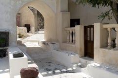 Stone stairs in Kamari. Royalty Free Stock Image