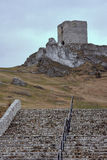 Stone stairs leading to the  medieval castle Royalty Free Stock Photography