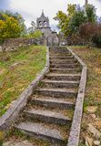 Stone stairs leading to an old church royalty free stock photos