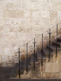 Stone stairs with metal railings, Peru. Stock Image