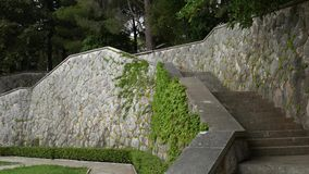 Stone stairs in Montenegro, in Park Milocer, Sveti Stefan. Stone stairs in Montenegro, in the Park Milocer, Sveti Stefan stock video