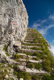 Stone stairs in the mountains Stock Photos