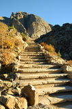Stone Stairs in the Mountains Royalty Free Stock Photos