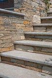 Stone stairs. Natural stone stairs in a beautiful home garden Stock Image