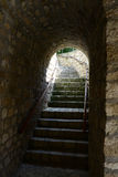 stone stairs of the old town Royalty Free Stock Images
