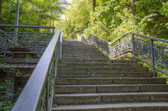 Stone stairs. On a steep mountain pathway Royalty Free Stock Photography