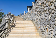 Stone stairs Royalty Free Stock Images