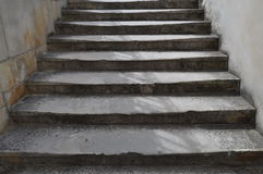 Stone stairs on the street Royalty Free Stock Photography