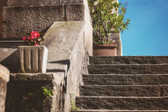 Stone stairs and sunlight. Royalty Free Stock Photography