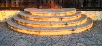 Stone stairs at sunset Royalty Free Stock Photography