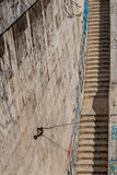 Stone Stairs at Tiber Riverbanks, Rome, Italy Stock Photography