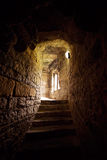 Stone Stairs to Window in Castle Royalty Free Stock Images