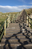 Stone stairs under blue sky Stock Photography