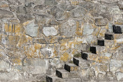 Stone stairs. And stone wall Royalty Free Stock Photography