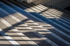 Stone stairs withe shades and sun Royalty Free Stock Photography