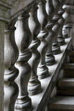 Stone stairway balustrade Stock Photos