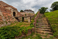 Stone stairway at Belgrade fortress Royalty Free Stock Image