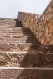 Stone stairway of a medieval fortress. Royalty Free Stock Images