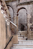 Stone stairway in the old city, Taranto, Puglia, Italy. Royalty Free Stock Image